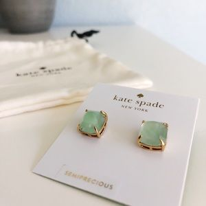 Kate Spade Semiprecious Amazonite Stud Earrings